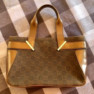 Authentic Gucci Canvas & Leather Tote